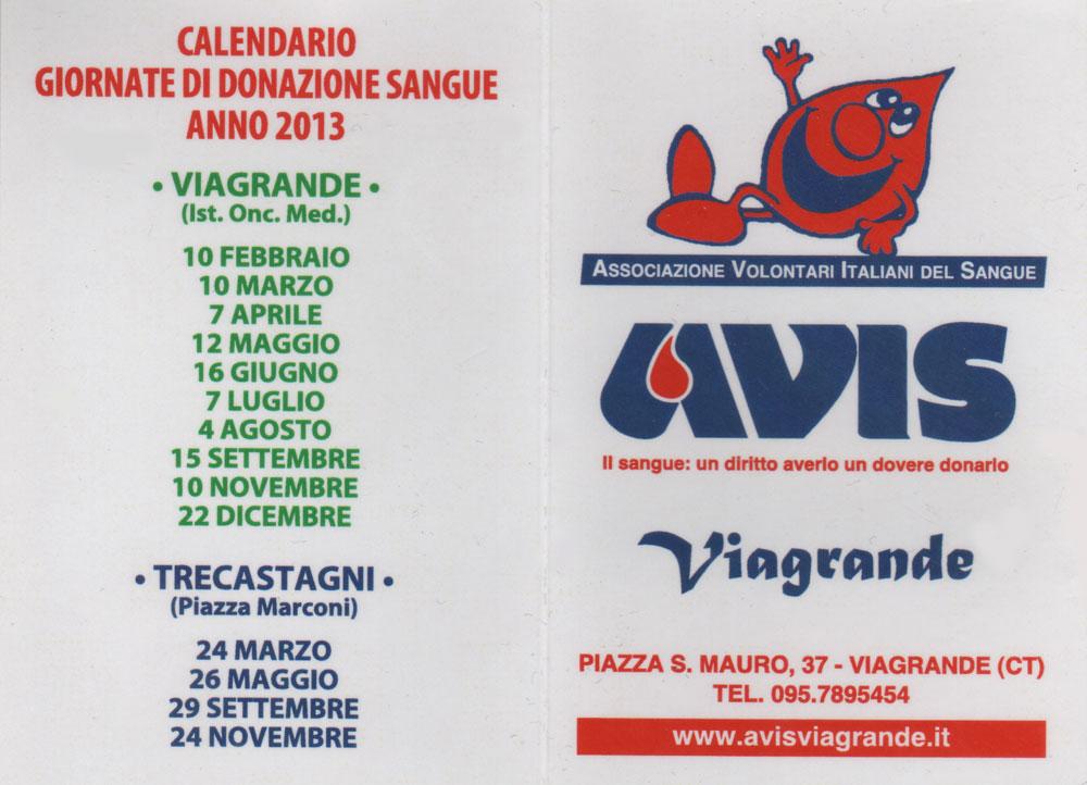 Calendario Avis 2013