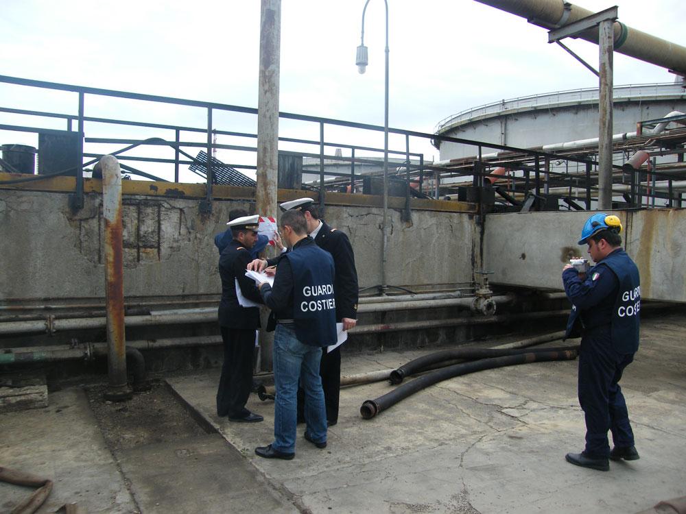 Raffineria di Milazzo. Sequestro degli impianti TAP e TAZ di trattamento delle acque reflue