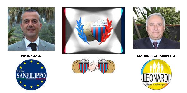 Piero Coco e Mauro Licciardello uniti nella fede per il Catania calcio