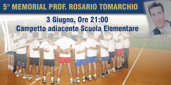 Volley. 5° Memorial Prof. Rosario Tomarchio