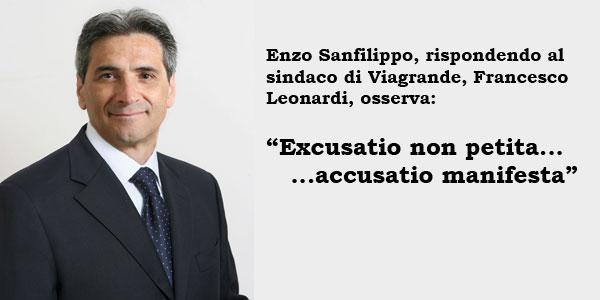 Enzo Sanfilippo. Excusatio non petita, accusatio manifesta...