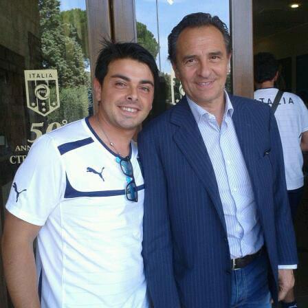 Seby Guffrida con Cesare Prandelli