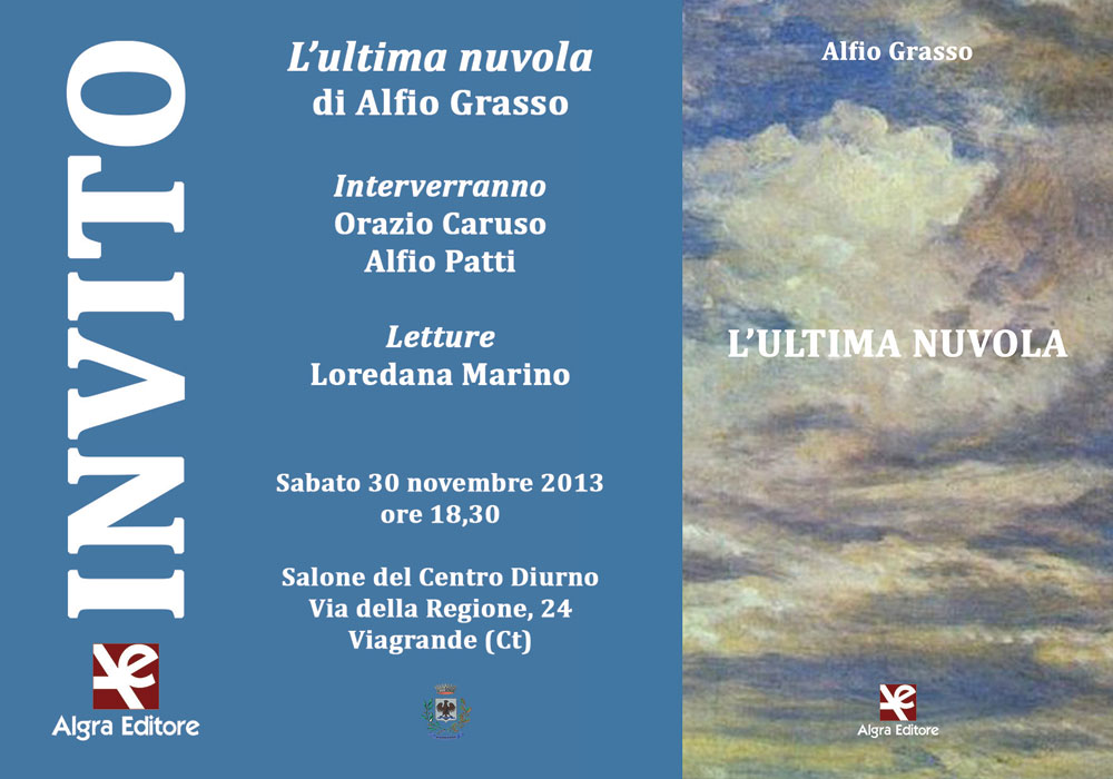 Invito - Alfio Grasso - L'ultima nuvola