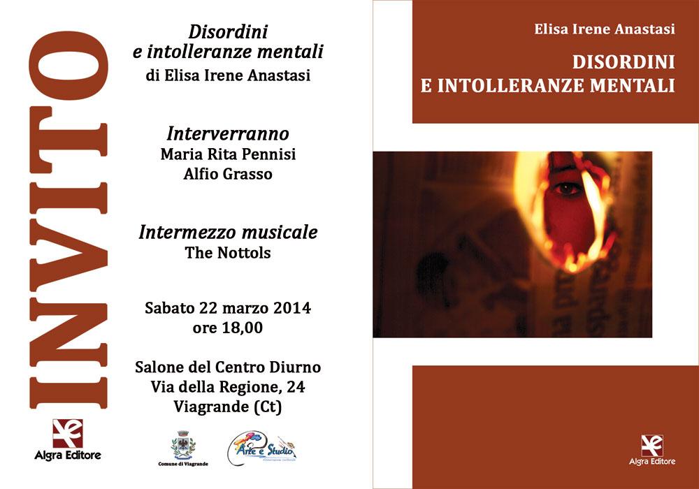 Elisa Irene Anastasi - Disordini e Intolleranze Mentali