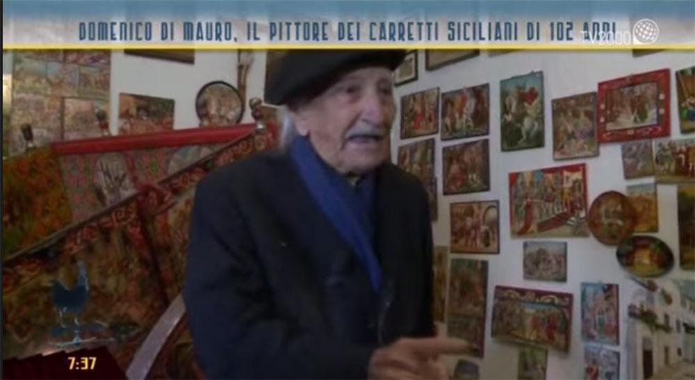 Domenico Di Mauro, pittore di carretti di 102 anni su TV 2000