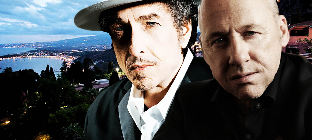 """Lights of Taormina"" e quel balcone tra Mark Knopfler e Bob Dylan"