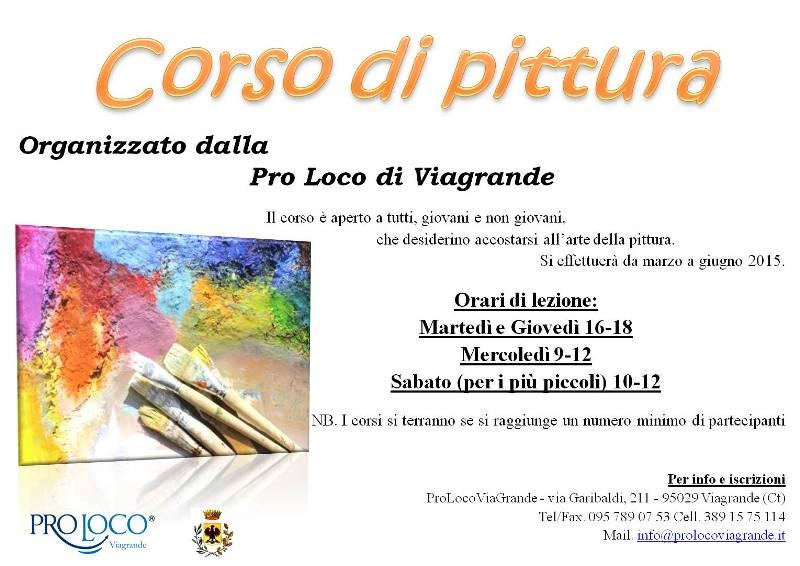 Corso di Pittura alla Pro Loco di Viagrande
