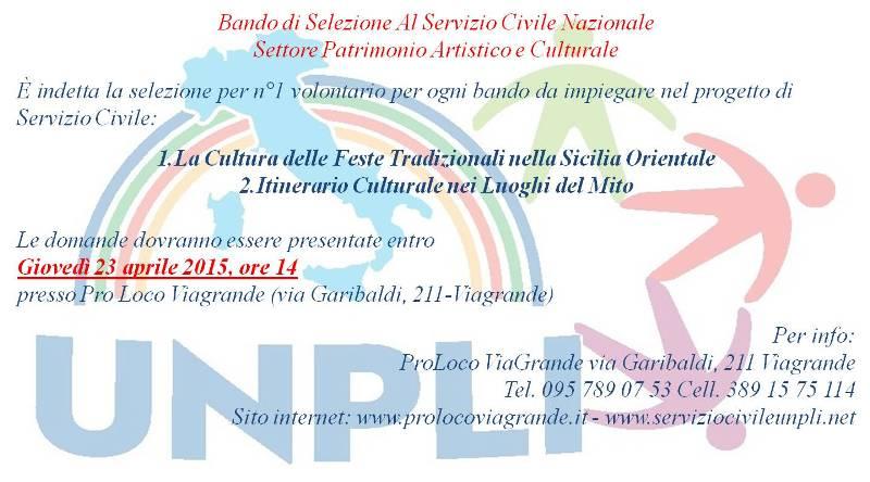 Bando di Selezione Al Servizio Civile Nazionale – Settore Patrimonio Artistico e Culturale