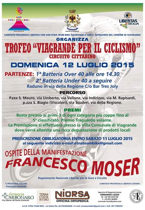 """Francesco Moser al trofeo """"Viagrande per il Ciclismo"""""""