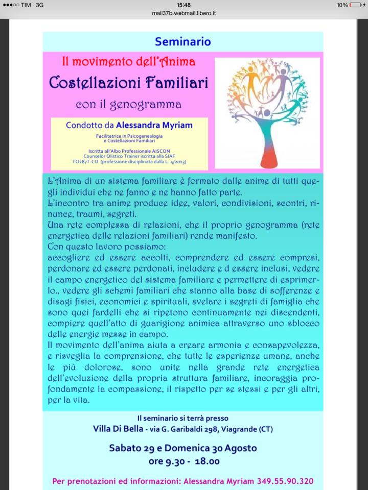 Il Movimento dell'anima nelle Costellazioni Familiari
