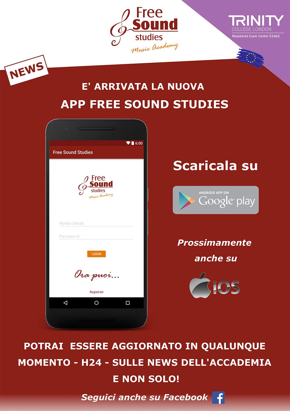 """È arrivata la nuova App """"Free Sound Studies"""""""