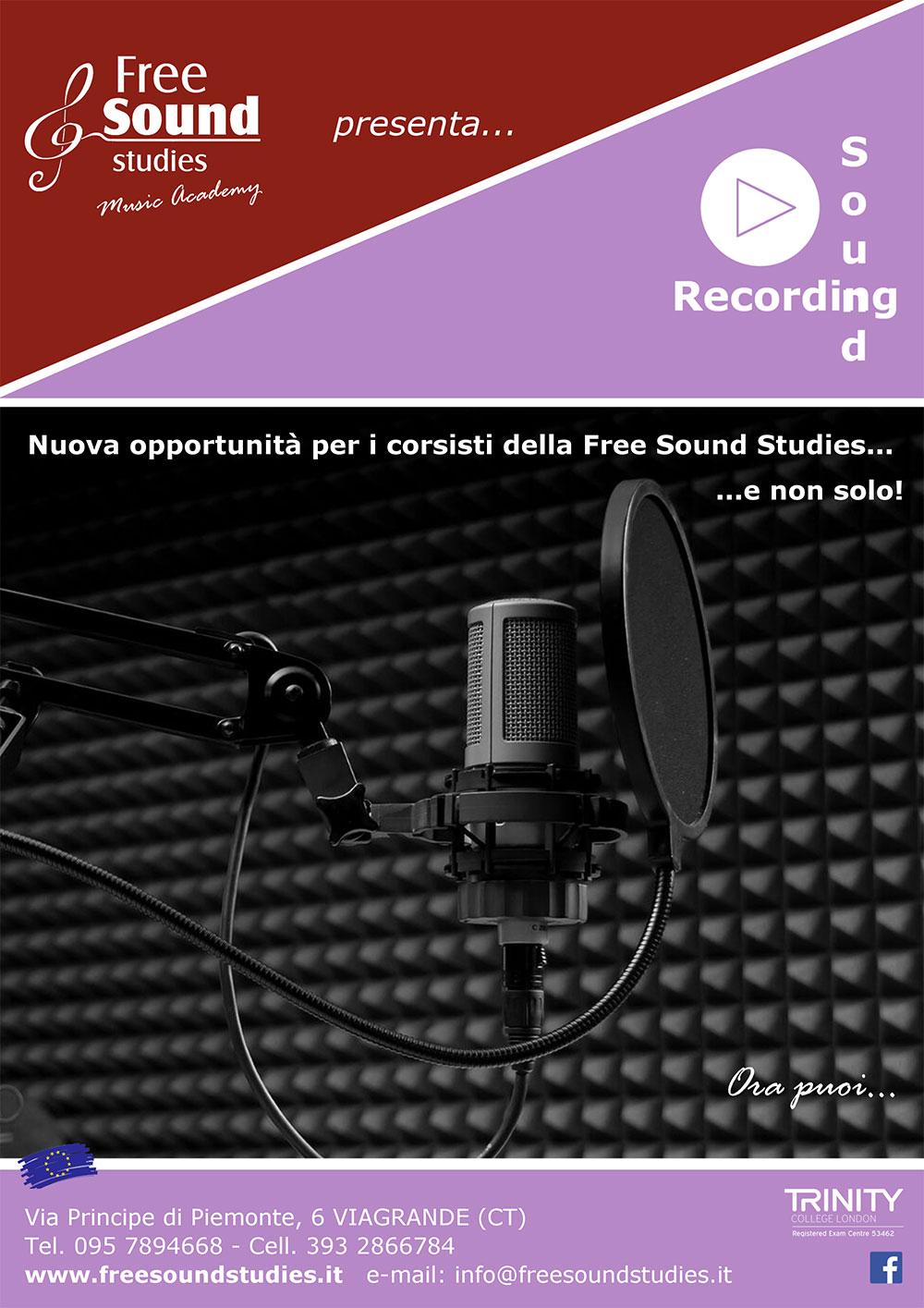 La Free Sound Studies presenta la Recording Sound