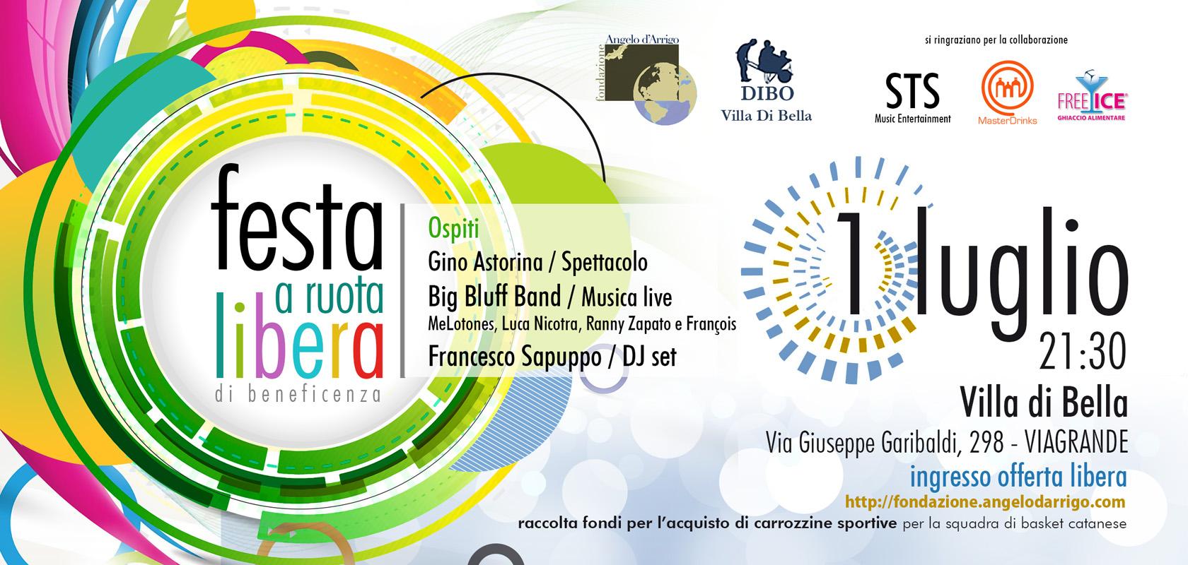 Viagrande: Serata di solidarietà a cura della Fondazione Angelo D'Arrigo