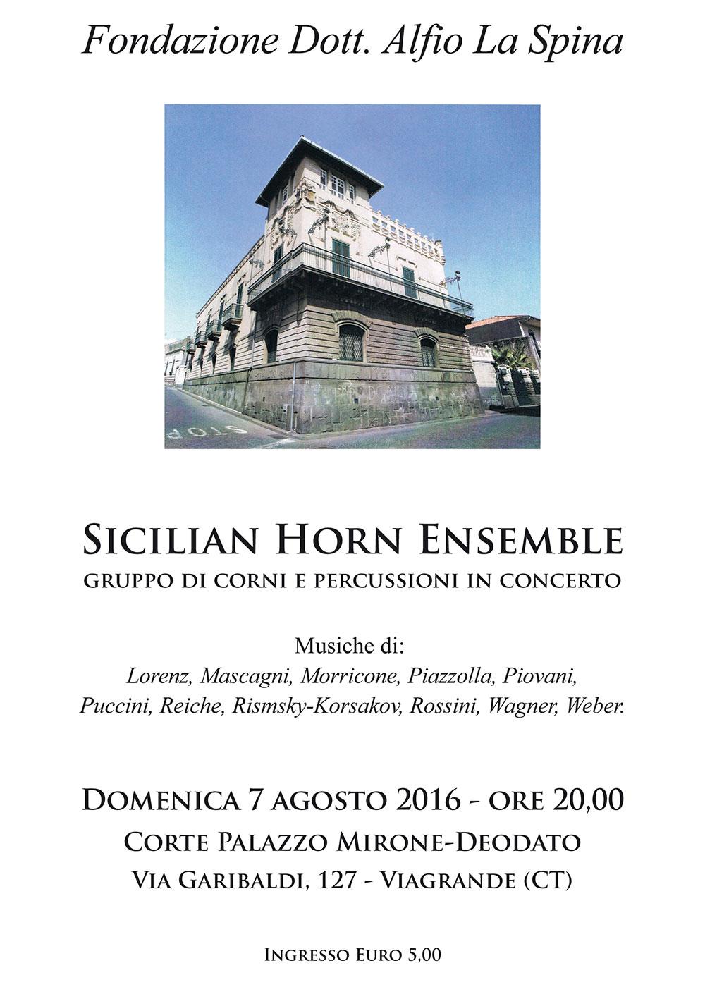 Sicilian Horn Ensemble alla Corte di Palazzo Mirone-Deodato