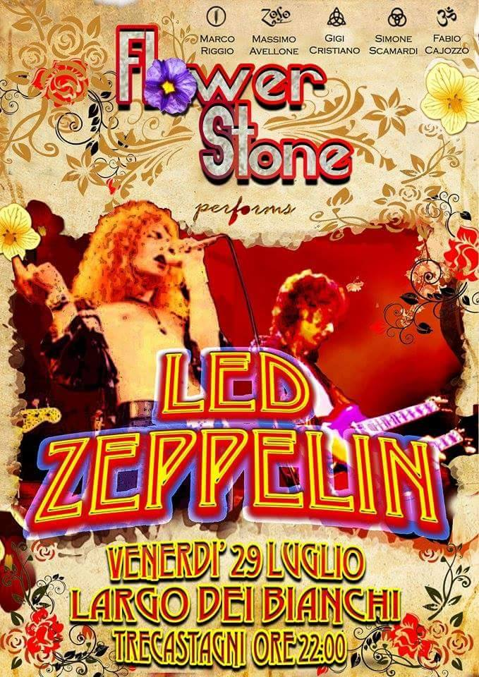 Flower Stone. La tribute band dei Led Zeppelin a Trecastagni