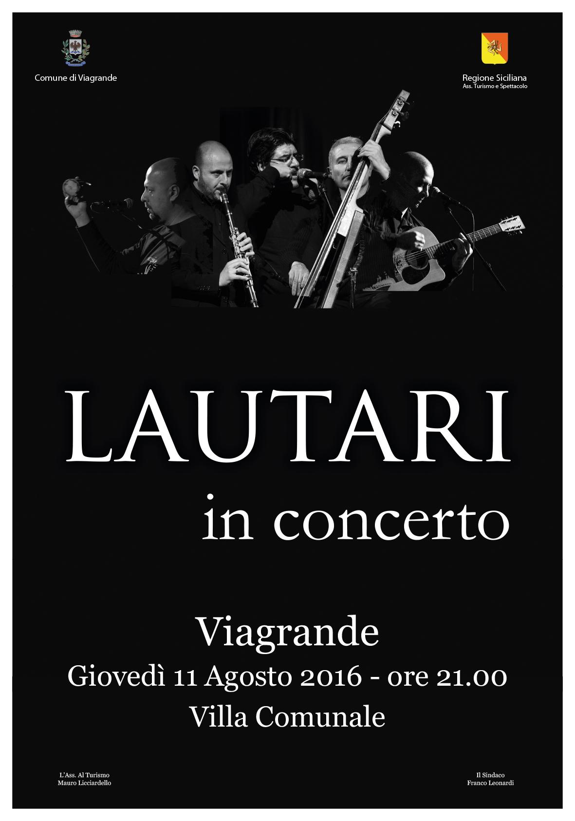 Lautari #LeVieDeiCanti – Viagrande (CT) – Tour Estivo 2016