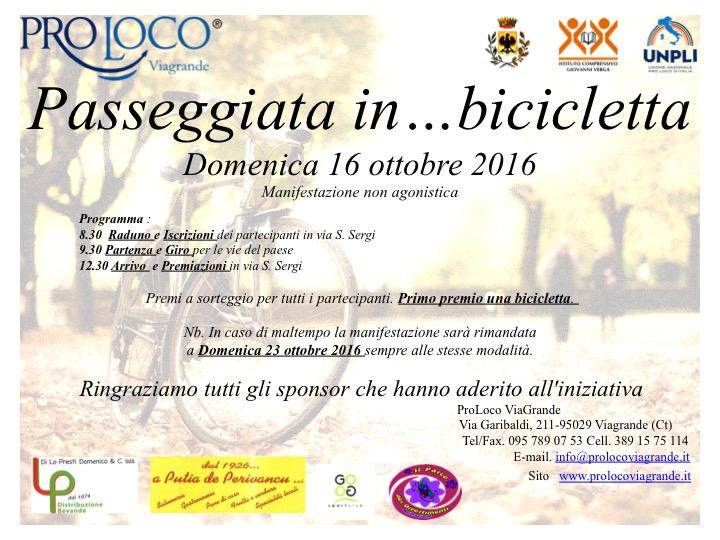 La ProLoco di Viagrande organizza la Passeggiata in… bicicletta