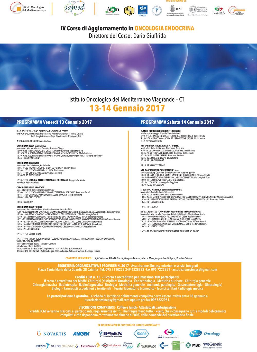 Programma Oncologia Endocrina