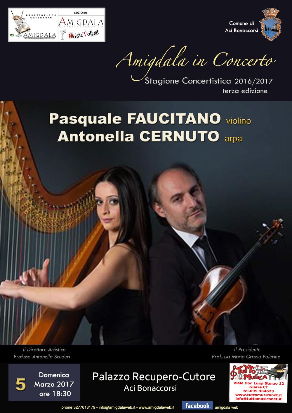 Stagione Concertistica Amigdala. Pasquale Faucitano e Antonella Cernuto in concerto