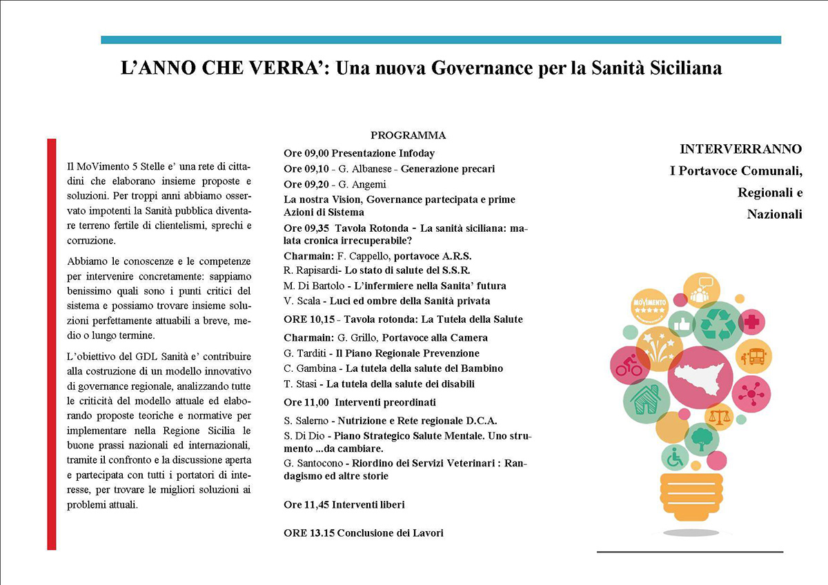 L'Anno che verrà: Una nuova Governance per la Sanità Siciliana