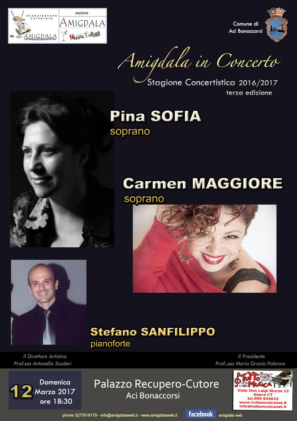Amigdala. Pina Sofia, Carmen Maggiore e Stefano Sanfilippo in concerto