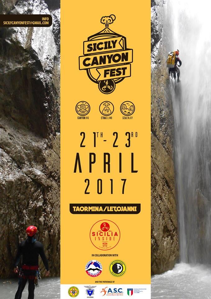 1° Siciliy Canyon Fest con ASD Sicilia Inside Organization di Viagrande