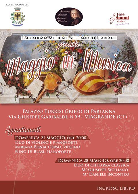 Accademia Musicale Alessandro Scarlatti. MAGGIO IN MUSICA a Viagrande