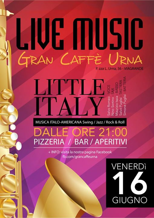 Little Italy in concerto a Viagrande