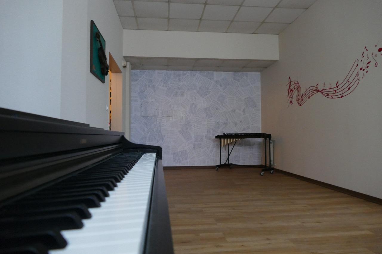 un dettaglio dell'Aula di Musica