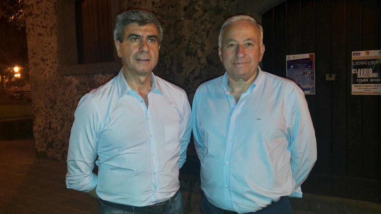 Francesco Leonardi (sindaco di Viagrande) e Mauro Licciardello (vice sindaco e ass.re allo sport)