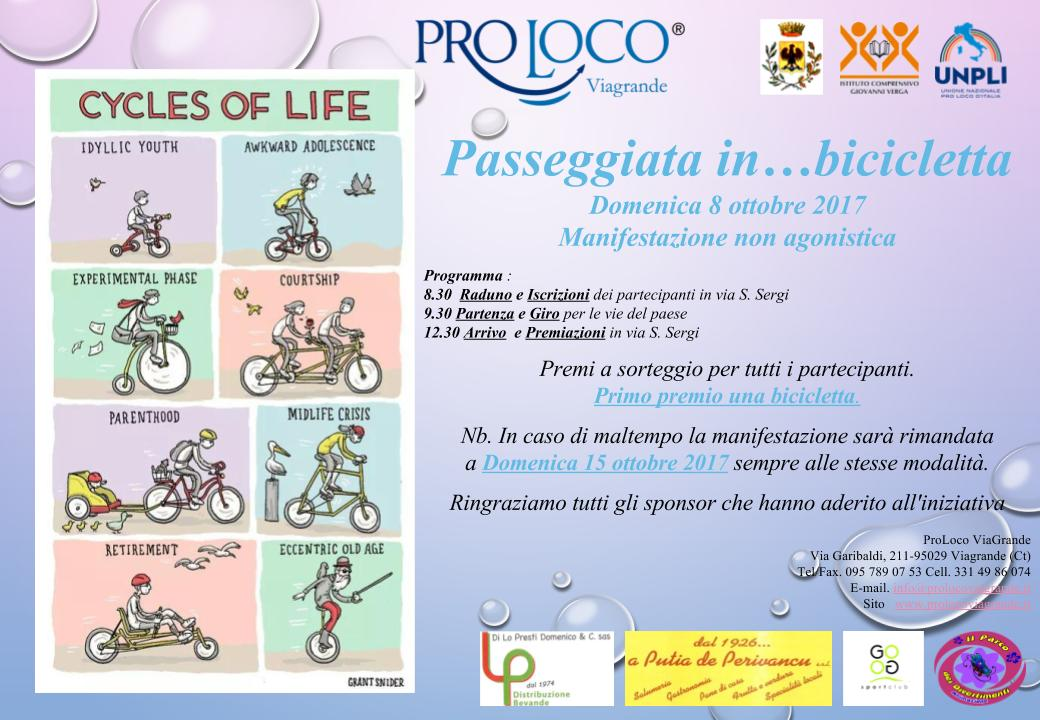 Viagrande. Passeggiata in... bicicletta...