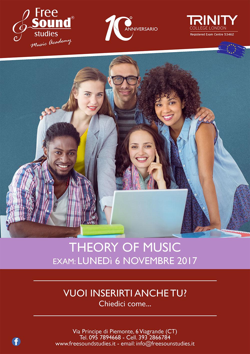Esami Teoria Trinity 2017 alla Free Sound Studies