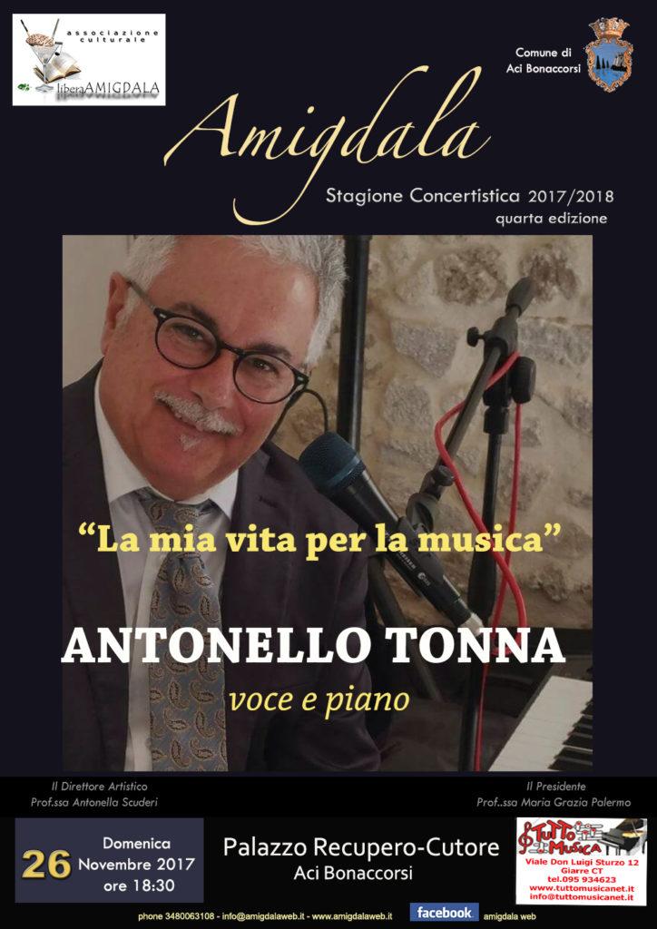 Amigdala: concerto di Antonello Tonna