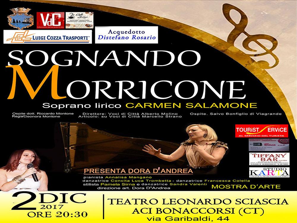 """Sognando Morricone"" al teatro Leonardo Sciascia di Aci Bonaccorsi"