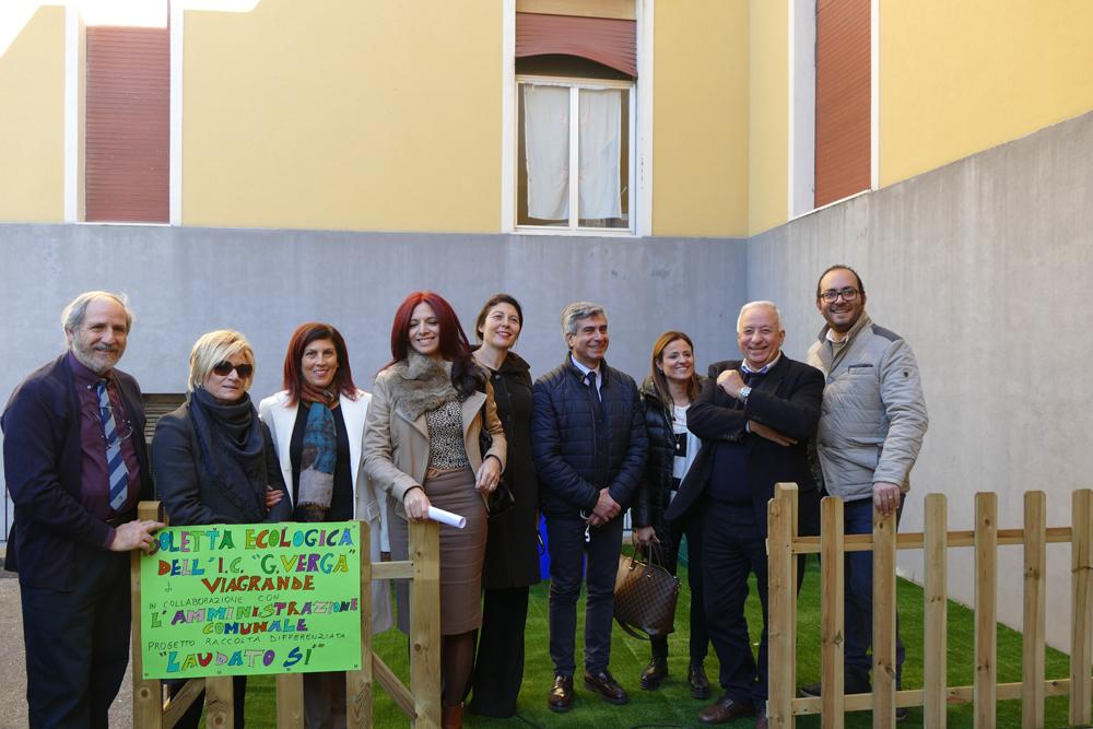 Viagrande, Leonardi su inaugurazione Mini Isola Ecologica nella Scuola Elementare