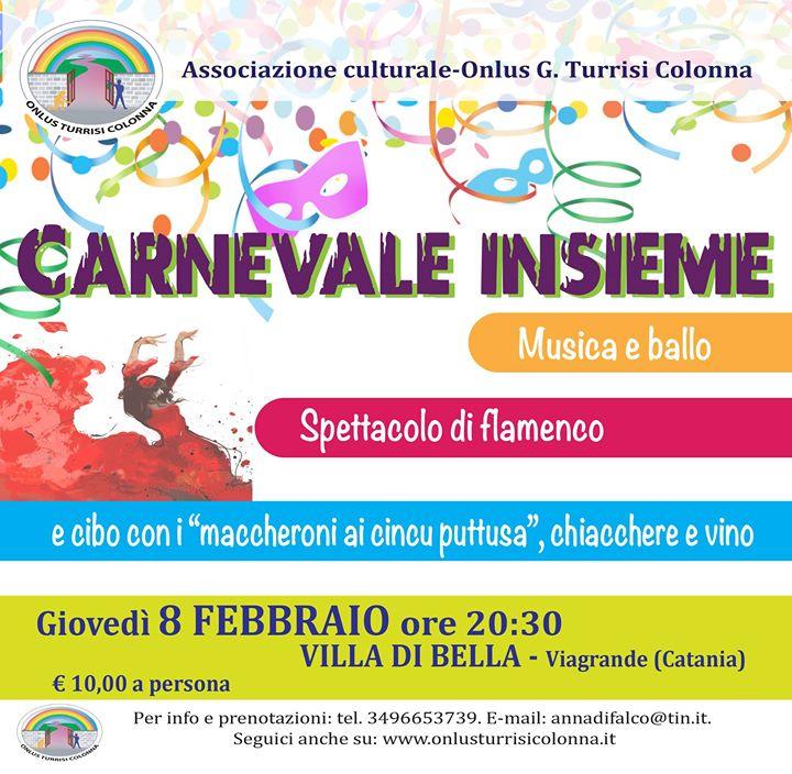 Carnevale insieme a Villa Di Bella