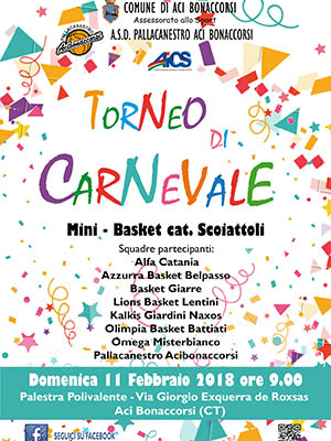 Torneo di Carnevale, otto squadre ad Aci Bonaccorsi