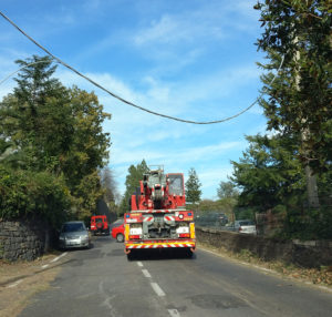 Via Garibaldi (cavo linea elettrica)
