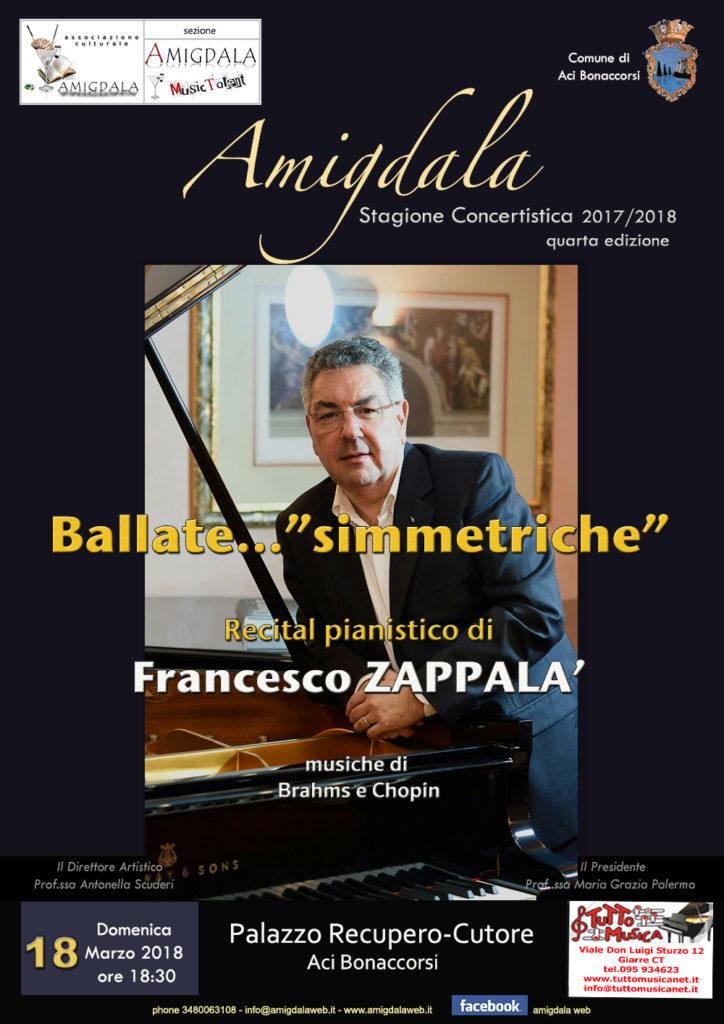 Amigdala. Recital pianistico di Francesco Zappalà