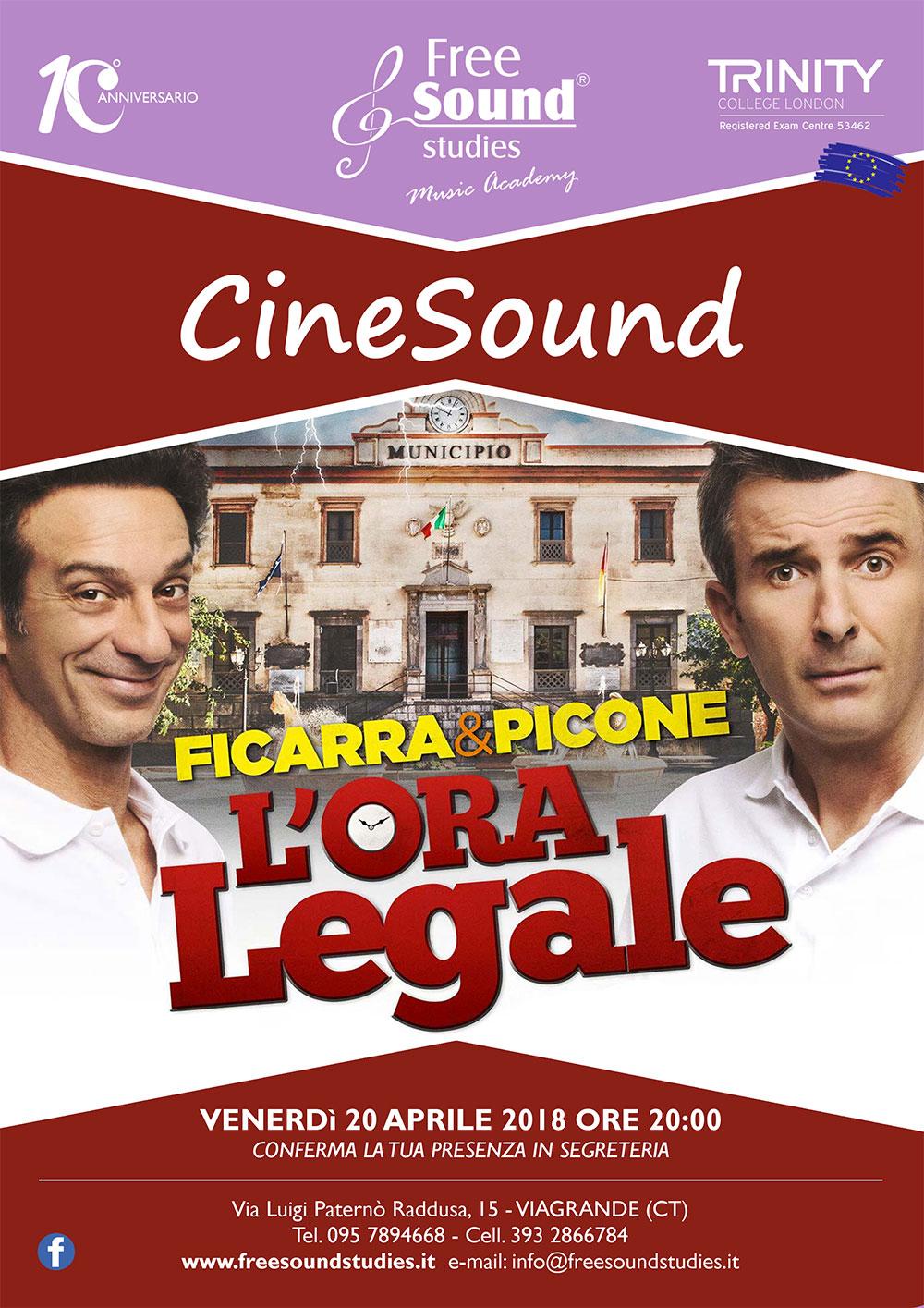 """Nuovo appuntamento con CineSound: """"L'Ora Legale"""""""