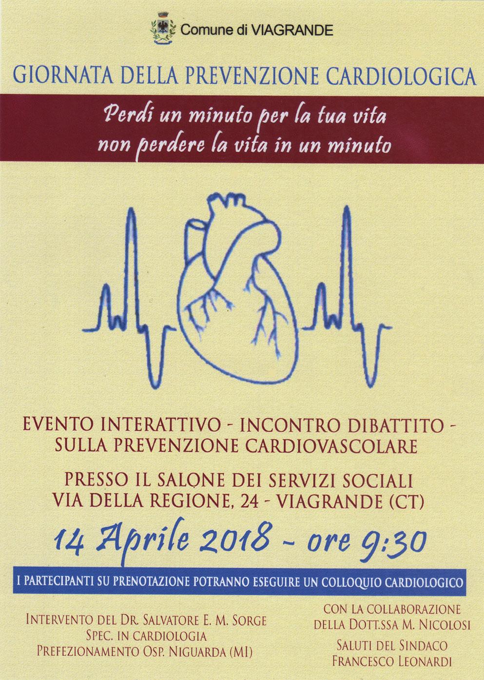 Viagrande. Prevenzione cardiovascolare e diabete