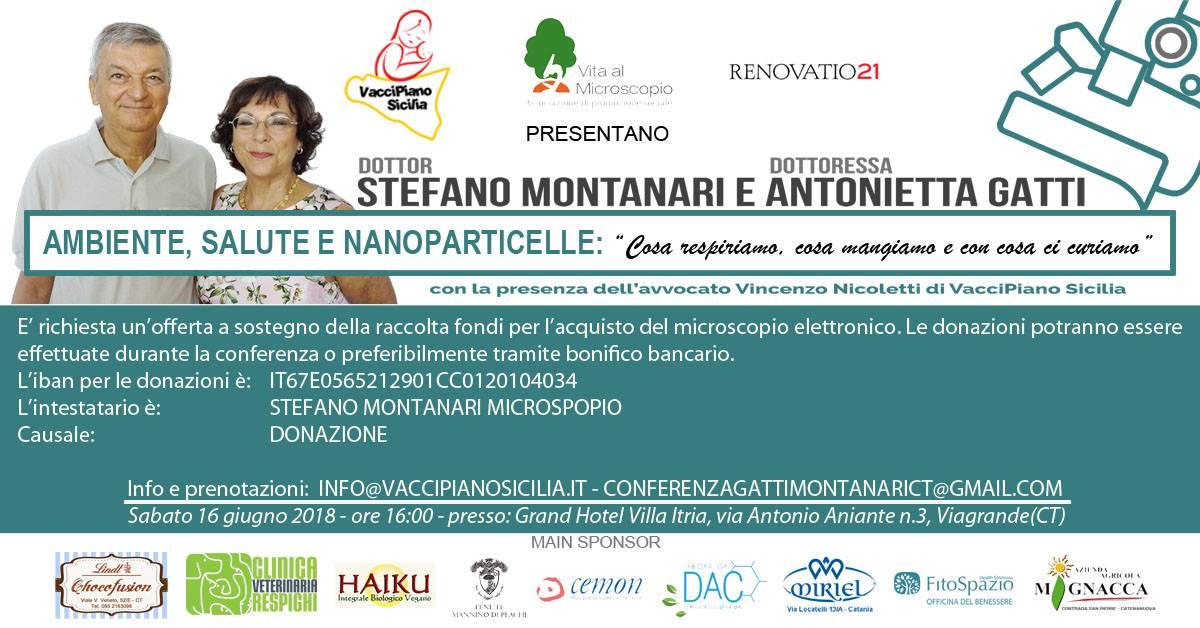 Viagrande. Nanopatologie. Conferenza del Dott. Montanari e della Dott.ssa Gatti