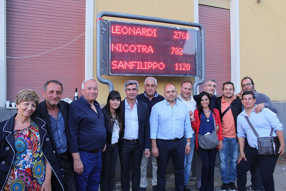 Viagrande. Vince Francesco Leonardi con 2.768 voti