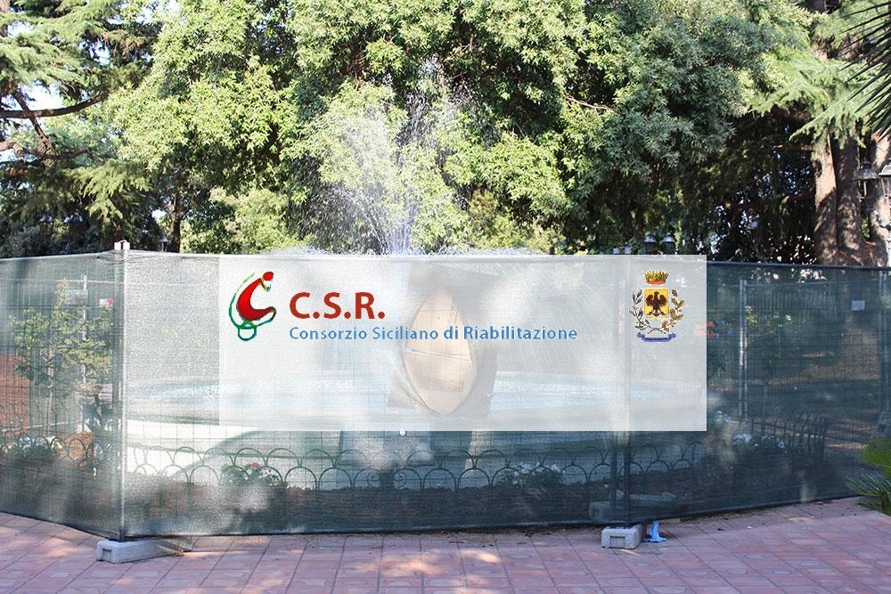 Viagrande. Inaugurazione fontana Parco Aniante
