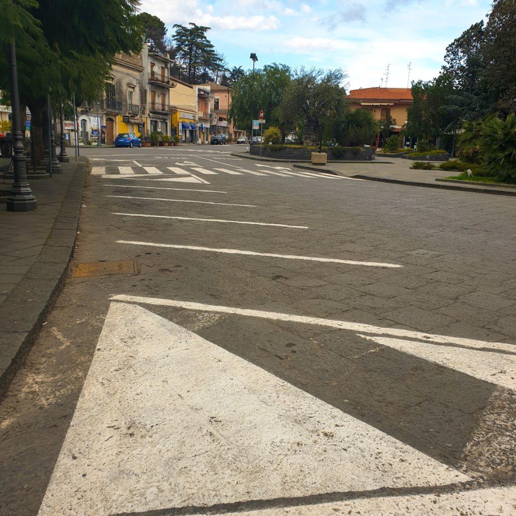Viagrande, Leonardi: Quasi ultimati i lavori di rifacimento della segnaletica alcune strade